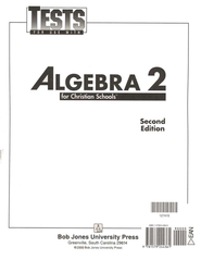 BJU Math 11: Algebra 2 Tests   -