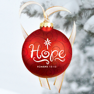 Christmas Swirls - Glass Ornament - Hope  -