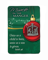 Miracle in the Manger Lapel Pin  -
