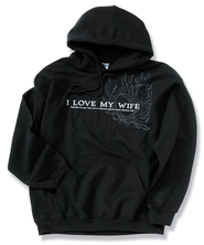 I Love My Wife, Black Hooded Sweatshirt, XX-Large (50-52)  -