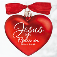 Jesus My Redeemer, Heart of Christmas Glass Heart Ornament  -