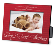 Baby's First Christmas Red Metal Photo Frame  -