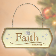 Faith, Christmas Plaque Ornament   -