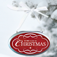 Christmas Oval Christmas Plaque Ornament  -
