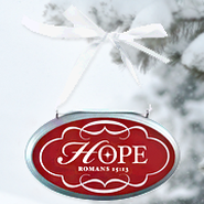 Hope Oval Christmas Plaque Ornament  -