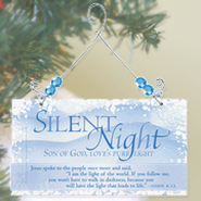 Greeting Plaque, Silent Night  -
