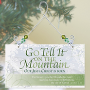 Greeting Plaque, Go Tell It on the Mountain  -