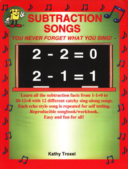 Subtraction Songs Book Only   -              By: Larry Troxel