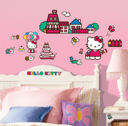 Hello Kitty Vinyl Wall Stickers  -