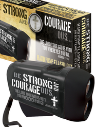 Strong and Courageous Hand Powered Flashlight  -