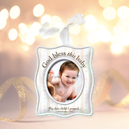 For This Child I Prayed Ceramic Photo Ornament  -