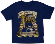 No Problem Is Too Big Shirt, Navy, Youth Small  -