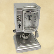 Espresso Machine Desk Clock  -