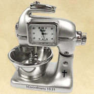 Kitchen Mixer Desk Clock, 1 Corinthians 10:31  -
