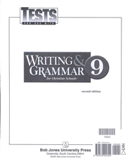 BJU Writing & Grammar Tests, Grade 9   -