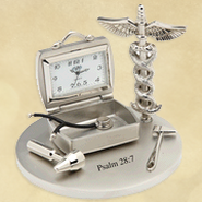Doctor Desk Clock, Psalm 28:7  -