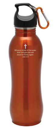Stainless Steel Sport Bottle, Orange   -