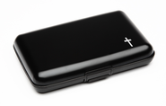 Cash and Credit Card Pocket Case with Ichthus, Black  -