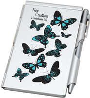 Aluminum Notepad and Pen Set, New Creation  -