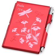 Aluminum Notepad and Pen Set, Psalm 72:6   -