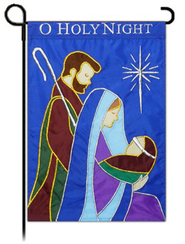 O Holy Night Applique Flag, Small  -