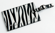 Luggage Tag with Cross, Zebra  -