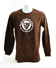 Zion Bible College Long-sleeve Tee, Brown, Small (36-38)  -