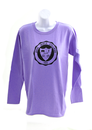 Zion Bible College Long-sleeve Tee, Orchid, Large (42-44)  -