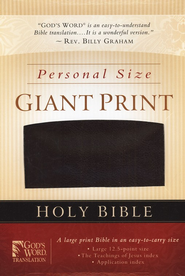 GOD'S WORD Personal Size Giant-Print Bible-- imitation leather, burgundy  -