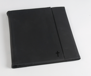 Trifold IPad Cover with Cross, Vintage Black  -