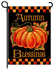 Autumn Blessings Flag, Small  -              By: Krista Hamrick