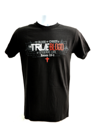 The Blood of Christ is the True Blood Shirt, Black, Medium  -