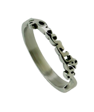 Handwriting Purity Ring, Size 9  -
