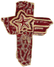 Modern Art Wall Cross with Star  -              By: Carrie Wainwright