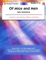 Of Mice and Men, Novel Units Student Packet, Grades 9-12   -     By: John Steinbeck
