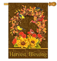 Harvest Blessings Flag, Large  -              By: MaryLou Troutman