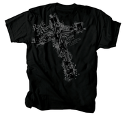 Music Cross Shirt, Black, Medium  -