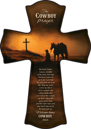 Cowboy Prayer Cross  -              By: Judith Durr