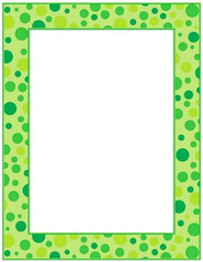 Green Polka Dots Printer Paper  -