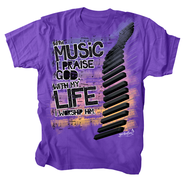 With My Life Worship Him, Shirt, Purple, Large  -