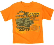 Under Construction Shirt, Orange, Youth Small   -