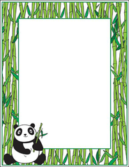 Panda with Bamboo Printer Paper  -