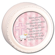 Before You Were Even Born Round Baby Box, Pink  -