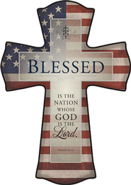 Blessed Is the Nation Cross, Small  -