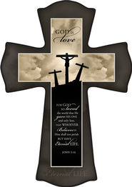 Three Crosses, God Is Love Cross, Small  -