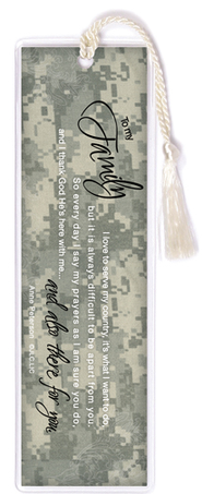 There For You, To My Family Soldier Bookmark  -     By: Anne Peterson