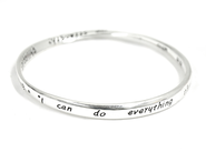 I Can Do All Things Through Christ Mobius Bracelet  -