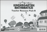Earlybird Kindergarten Mathematics (Standards Edition) Teacher Resource Pack B  -