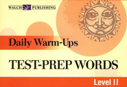 Daily Warm Ups, Test Prep Words, Level 2   -