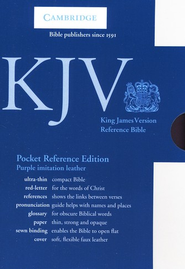 KJV Pocket Reference Bible, Imitation leather, purple  -